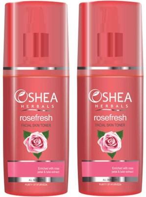 Oshea Herbals Rose Fresh Facial Skin Toner 120ml (Pack of 2)