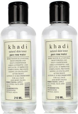 Khadi Herbal Pure Rose Water pack of 2
