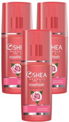 Oshea Herbals Rose Fresh Facial Skin Toner 120 ml(Pack of 3)