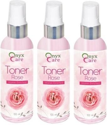 Onyx Care Rose Toner, Vitamin Enriched (Set of 3)