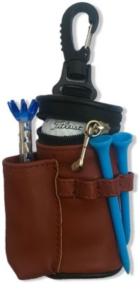 Golfoy Brown Tee Golf Ball Pouch