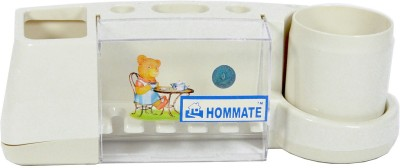 Hommate The Angel Bear Rack with protection cover Toothbrush Case(Pack of 1)