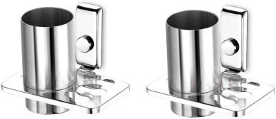 dazzle Opal Stainless Steel Toothbrush Holder(Steel, Wall Mount)
