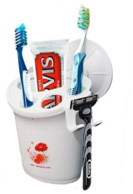 Shopo Stylish Suction Cup Toothpaste Plastic Toothbrush Holder