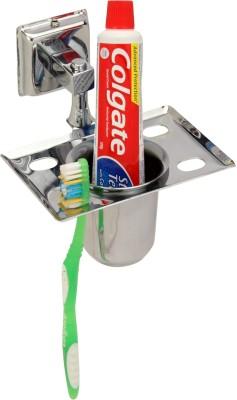 Zahab PLENET-9 BRUSH HOLDER Stainless Steel Toothbrush Holder(Steel, Wall Mount)
