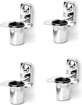 Handy Stainless Steel Toothbrush Stand 4 pcs offer Stainless Steel Toothbrush Holder(Wall Mount)