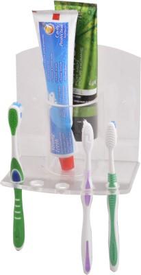 S Decor White Plastic Toothbrush Holder