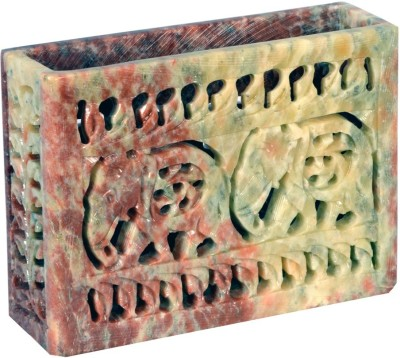 Avinash Handicrafts Stone Brush Holder 3x4 inch carved Stoneware Toothbrush Holder