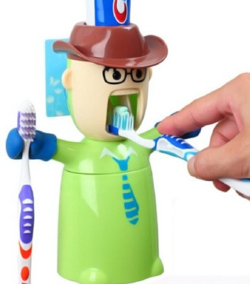 UMATH Warrior Toothpaste Dispenser Plastic Toothbrush Holder