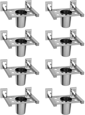 Doyours Stainless Steel Toothbrush Holder(Steel, Wall Mount)
