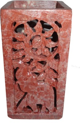Avinash Handicrafts Stone Brush Holder (Square) 4x2 inch carved Stoneware Toothbrush Holder