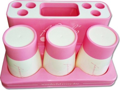 Shopo Family Toothpaste Set with 3 Cup Plastic Toothbrush Holder