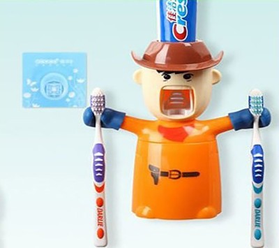 Inventure Retail Love's Warriors Cup Set, novel Amazing Birthday's Gifts for Kids and Your Best Friends - Cowboy Plastic Plastic Toothbrush Holder
