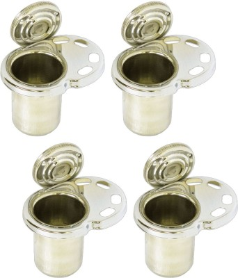 Doyours 4 Pieces Stainless Steel Toothbrush Holder