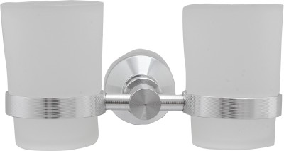 Dolphy Unique Design Wall mounted Glass, Aluminium Toothbrush Holder