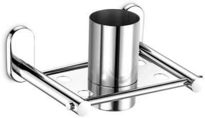 dazzle Stainless Steel Toothbrush Holder(Steel, Wall Mount)