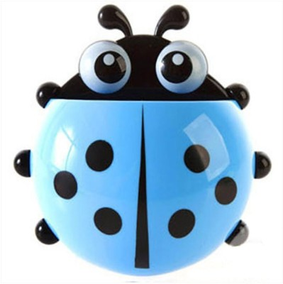 Inventure Retail Cute Cartoon Ladybird Plastic Toothbrush Holder