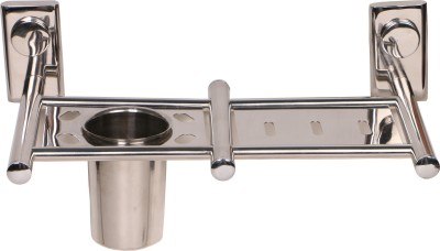 SGMP Round Stainless Steel Toothbrush Holder