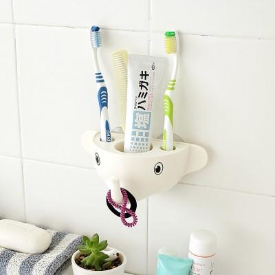 Inventure Retail Plastic Toothbrush Holder(White, Wall Mount)