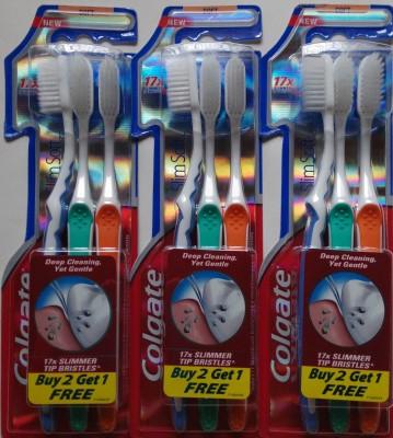 Colgate Slim Soft Offer Pack (2n+1n =3 Brush)Combo Set Of 3