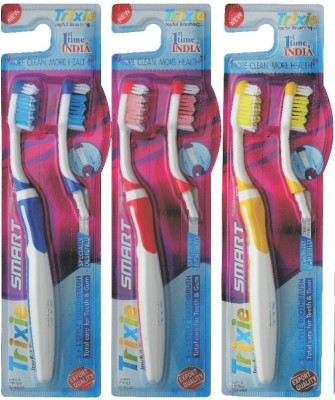 Trixie Smart 2 in 1 Soft Toothbrush Set of 3
