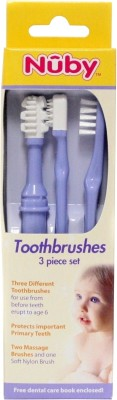Nuby Toothbrushes 3 Piece Set