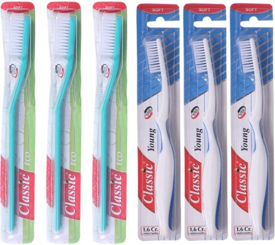 Classic Eco & Young Toothbrush Family Pack