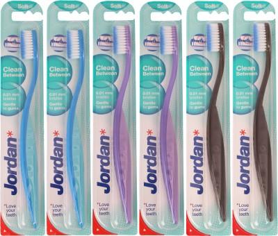Jordan Kids Clean Between Soft Toothbrush Pack of Six - 4