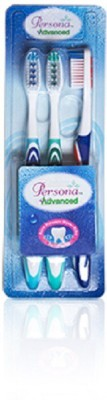 Amway Persona Tooth Brush Pack Of 3(Blue, Green, Blue)
