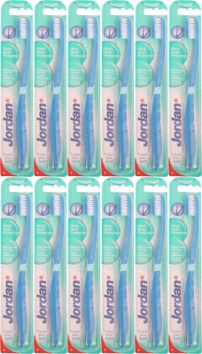 Jordan Kids Click Gum Protector Suepr Soft Toothbrush- Pack Of 12 (Color may vary)(Multicolor)