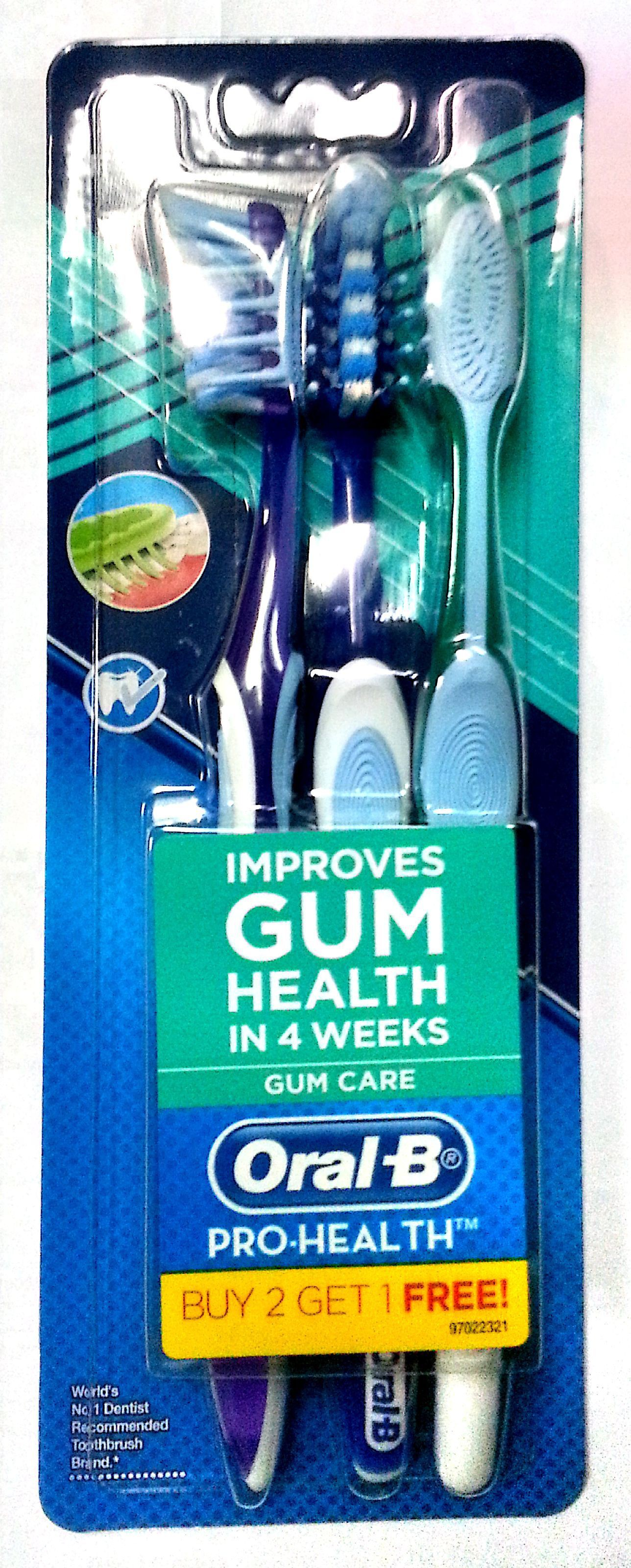 Oral-B Prohealth Gum Tooth Brush(Blue, Green, Red, Pink)