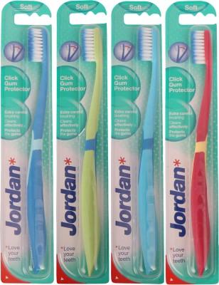 Jordan Kids Click Gum Protector Soft Toothbrush Pack of Four - 1