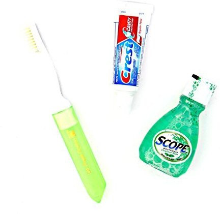 Dr. Fresh Dental Travel Kit - Crest Toothpaste - Scope - Toothbrush with Case(Assorted)