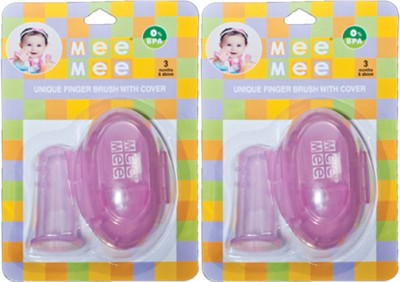 Mee Mee Unique Finger Brush With Cover
