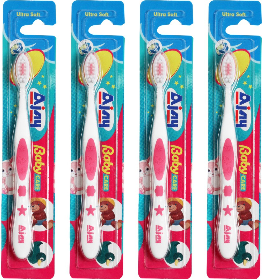 Ajay BABY CARE Pack Of 4(Pink)