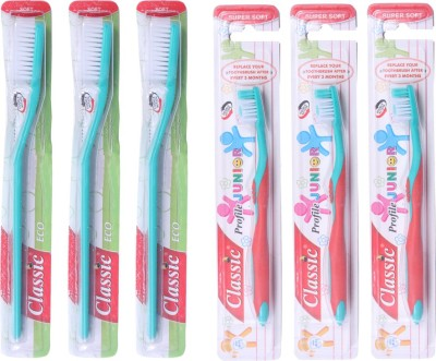 Classic Eco & Junior Profile Toothbrush Family Pack