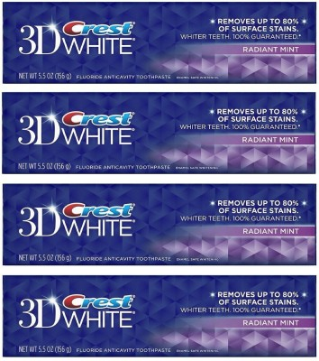 Crest 3D White Anti-Cavity Teeth Whitening Vibrant & Refreshing Mint Toothpaste(156 g)