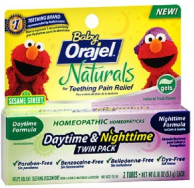 orajel day & night time teething pain relief gel Natural Toothpaste