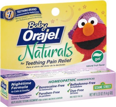Orajel Naturals Teething pain Relief gel natural Toothpaste