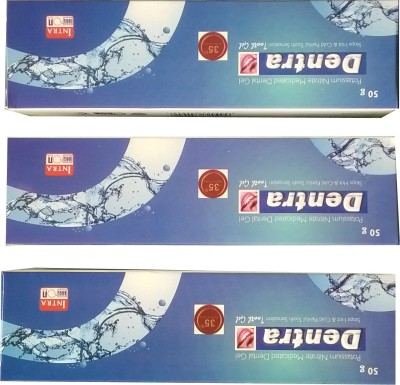 Dentra Tooth Gel Pack Of 3 Gel Toothpaste(150 g)