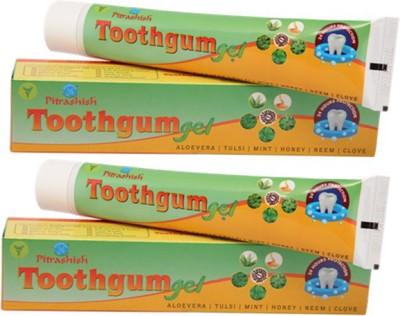 Pitrashish Toothgum Gel (pack of 2) Neem, Tulsi, Clove, Aloevera Toothpaste