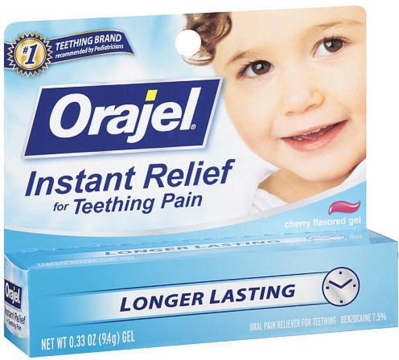 Orajel Instant Relife Teething Gel (9.4 g) cherry Toothpaste(9 g)