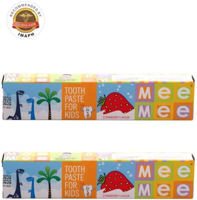 Mee Mee Fluoride-Free Flavor Strawberry Toothpaste
