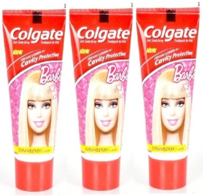 Colgate Kids - Barbie (Strawberry Flavour) (3 packs) Mild Strawberry Toothpaste(240 g)