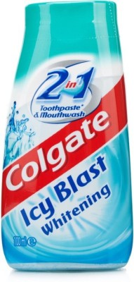 Colgate 2 In 1 Ice Blast Whitening Tooth Paste & Mouth Wash Intense Freshness Toothpaste