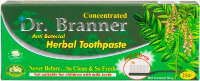 Dr. Branner Herbal Toothpaste Menthol, Bornol, Sodium Laurylsulphate Toothpaste