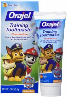 Orajel Paw Patrol children learn to be swallowed Fruity Fun Toothpaste