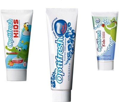 Oriflame Sweden Oral Care Combo Strawberry, Fresh Spearmint Toothpaste