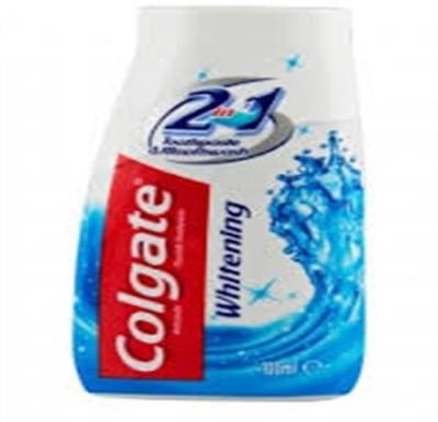 Colgate 2 In 1 Whitening Tooth Paste & Mouth Wash Whitening Toothpaste