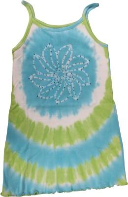 Mankoose Formal Sleeveless Printed Girl's Green Top